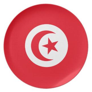 Tunisia Flag Party Plates