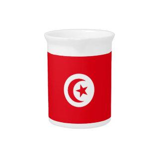 Tunisia Flag Pitcher