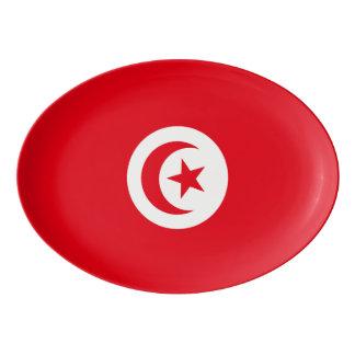 Tunisia Flag Porcelain Serving Platter