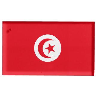 Tunisia Flag Table Card Holder