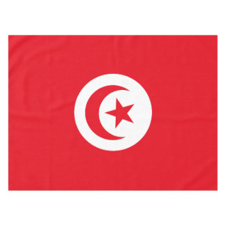 Tunisia Flag Tablecloth