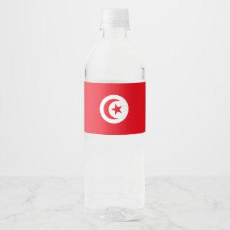 Tunisia Flag Water Bottle Label