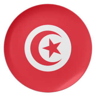 Tunisia National World Flag Plate