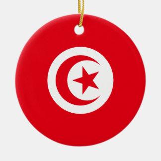 Tunisia Round Ceramic Ornament