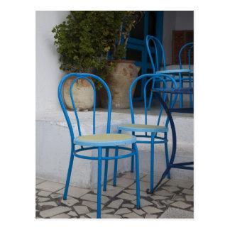 Tunisia, Sidi Bou Said, cafe chairs Postcard