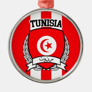 Tunisia Silver-Colored Round Ornament