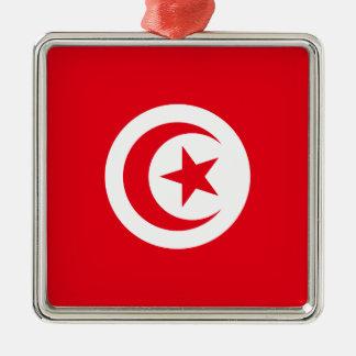 Tunisia Silver-Colored Square Ornament