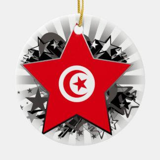 Tunisia Star Round Ceramic Ornament