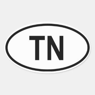 "Tunisia ""TN"" Oval Sticker"