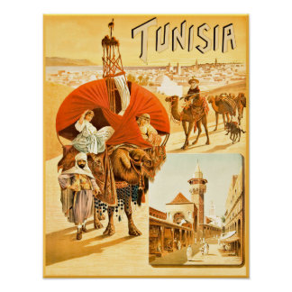 Tunisia travel poster