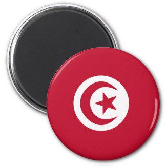 Tunisian flag 2 inch round magnet