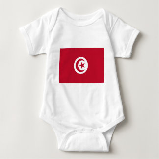 Tunisian flag baby bodysuit