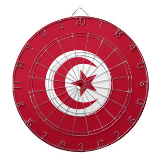 Tunisian flag dartboard