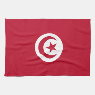 Tunisian flag kitchen towel