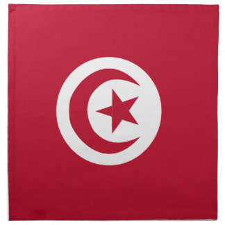 Tunisian flag printed napkin