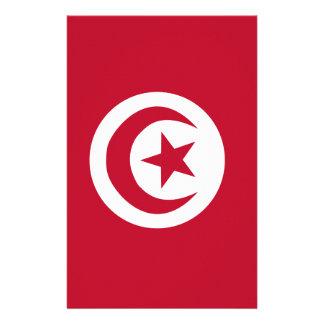 Tunisian flag stationery paper