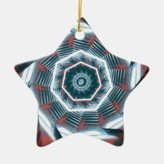 Tunnel Abstract Ceramic Star Ornament