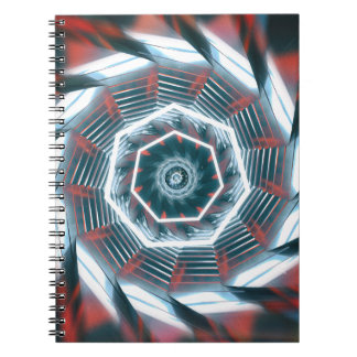 Tunnel Abstract Spiral Notebook
