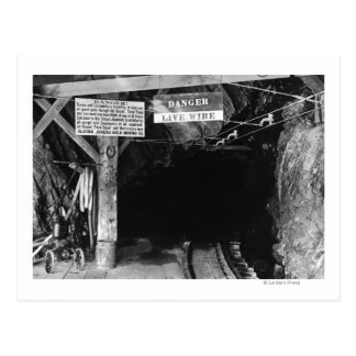 Tunnel at Juneau, Alaska Treadwell Mine Postcard