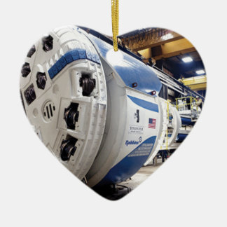Tunnel Boring Machine Ceramic Heart Ornament