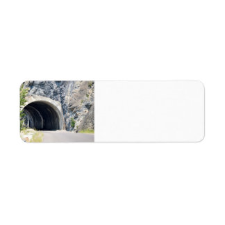 Tunnel in Glacier Park Return Address Label