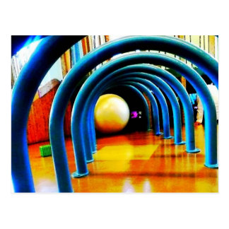 Tunnel of Fun Blue Postcard
