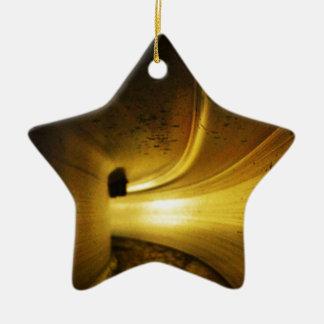 Tunnel of Light Ceramic Star Ornament