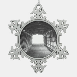 Tunnel of Light Pewter Snowflake Ornament