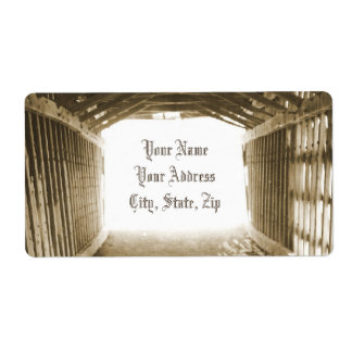 Tunnel of Light Shipping Label