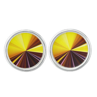 Tunnel of yellow and purple light cuff links