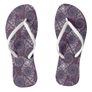 Tunnel Vision original fractal artwork Flip Flops