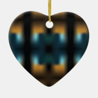 TUNNEL VISION SQUARED CERAMIC HEART ORNAMENT