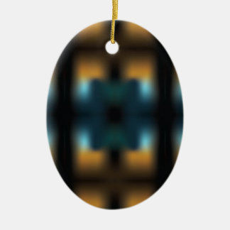 TUNNEL VISION SQUARED CERAMIC OVAL ORNAMENT