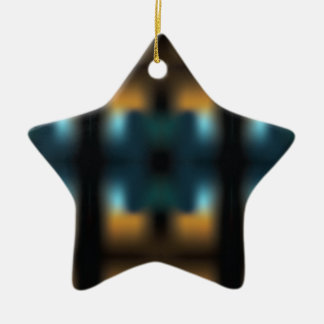 TUNNEL VISION SQUARED CERAMIC STAR ORNAMENT