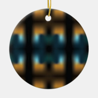 TUNNEL VISION SQUARED ROUND CERAMIC ORNAMENT
