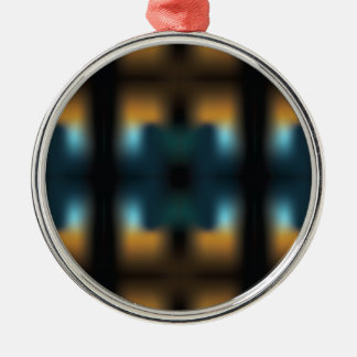 TUNNEL VISION SQUARED Silver-Colored ROUND ORNAMENT