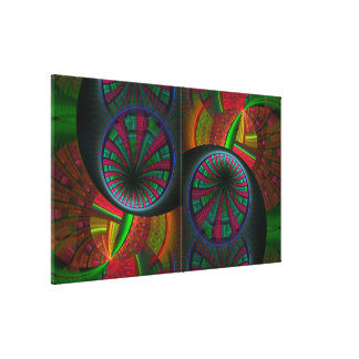 Tunneling Fractal Psychedelic Canvas Print