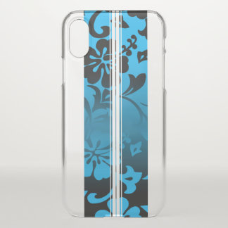 Tunnels Beach Hawaiian Hibiscus Surfboard Blue iPhone X Case