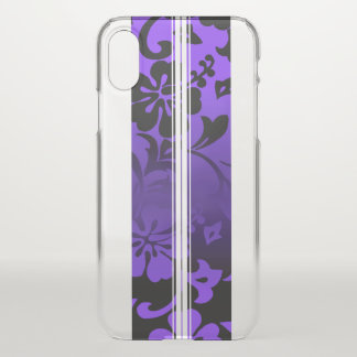 Tunnels Beach Hawaiian Hibiscus Surfboard Purple iPhone X Case