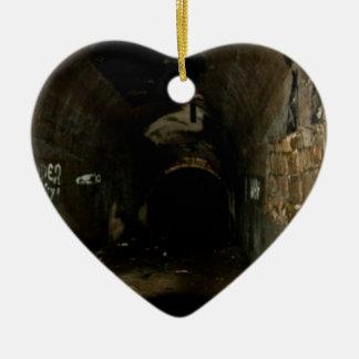 Tunnels Ceramic Heart Ornament
