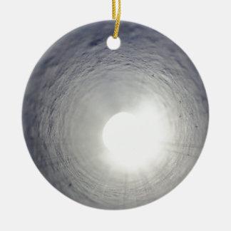 Tunnel's End Round Ceramic Ornament