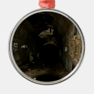 Tunnels Silver-Colored Round Ornament