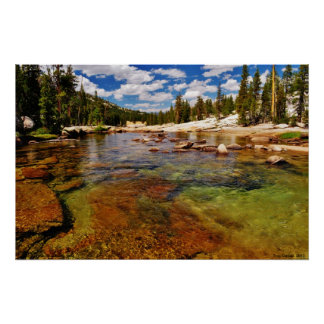 Tuolumne River, Tuolumne Meadows, Yosemite. Poster