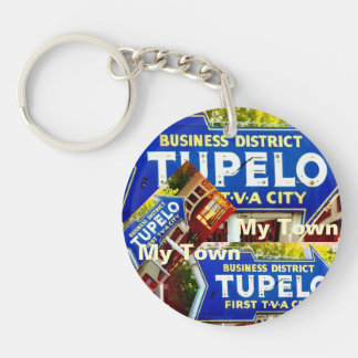 Tupelo, Mississippi - My Town! Single-Sided Round Acrylic Keychain