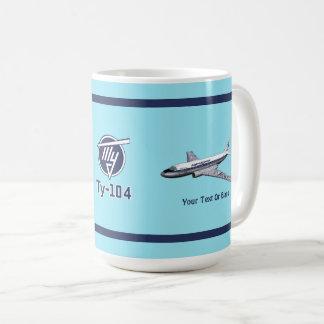 Tupolev (Туполев) Tu-104 Airliner Coffee Mug
