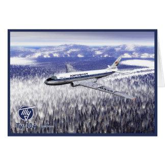 Tupolev (Туполев) Tu-104 Over Siberia Card