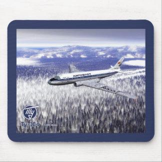 Tupolev (Туполев) Tu-104 Over Siberia Mouse Pad