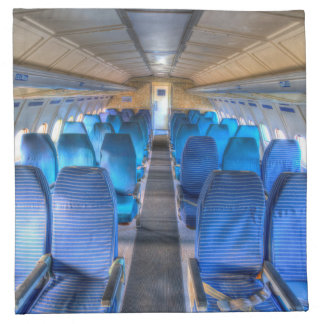 Tupolev TU-154 Russian Airliner Seating Napkin