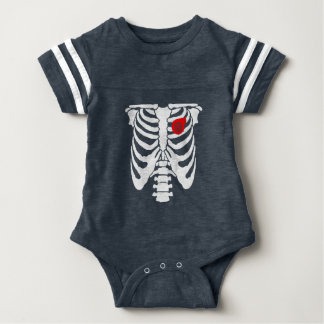 Turbo Charged Heart Baby Football Bodysuit