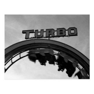 TURBO Roller Coaster Postcard